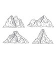 mountains sketch art drawing mountain engraved vector image vector image