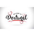 portugal welcome to word text with handwritten vector image