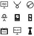 quality control icon set vector image