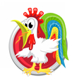 Rooster Orient horoscope sign isolated in circle vector image vector image