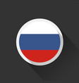 russia national flag on dark background vector image vector image