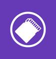 sd card icon pictogram vector image