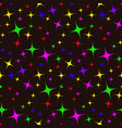 seamless pattern of colorful stars vector image