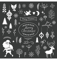 Set of Christmas graphic elements on a black backg vector image vector image