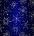 Snowflake Pattern Seamless texture Christmas and vector image vector image