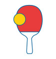 table tennis racket vector image vector image