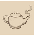 teapot drawn vector image vector image