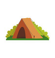 tent and greenery of nature vector image vector image