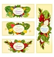 Tropical and exotic fruit banners for food design vector image vector image