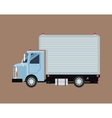 truck mini cargo service transport vector image