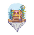 undersea treasure chest vector image vector image