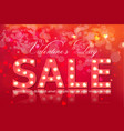 valentine day sale banner realistic red vector image