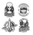 vintage monochrome space badges set vector image vector image