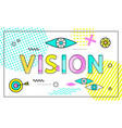 vision conceptual poster vector image vector image
