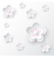 white cherry blossom abstract background vector image vector image