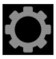 white halftone gear icon vector image vector image