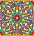 colored design abstract mandala sacred geometry vector image