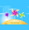 abstract summer collection banner with vector image