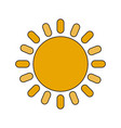 color image cartoon sun with brigntness rays vector image