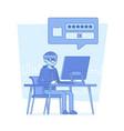 hacker cracking computer password vector image