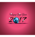 2017 Happy New Year Background for your Flyers and vector image vector image