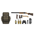 A set of realistic hunting equipment kit
