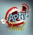 April Fool Banner with Chattering Teeth vector image