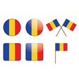 badges with flag of Romania vector image