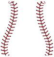Baseball Lace Background4 vector image