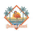 beautiful pink tropical flamingo paradise style vector image