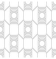 black and white seamless geometric pattern with vector image vector image