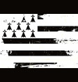 brittany scratched flag vector image vector image