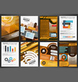 business brochure template with infographics vector image vector image