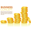 business coins vector image