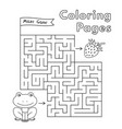 cartoon frog maze game vector image vector image