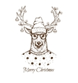 Christmas deer dressed inblouse vector image