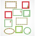 Christmas frames and labales vector image vector image