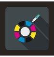 Color picker icon flat style vector image vector image