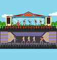concerts set with musicians and artists characters vector image vector image