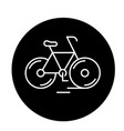 cute bicycle black icon sign on isolated vector image