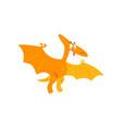 cute cartoon pteranodon dinosaur prehistoric dino vector image vector image