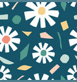 cutout flowers and floral element seamless pattern vector image vector image