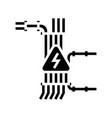 electric wiring glyph icon vector image vector image