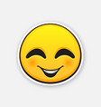emoticon for expressing emotion joy with smile vector image vector image