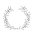 floral frame branch with leaves wreath decor vector image