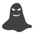 ghost glyph icon halloween and scary horror sign vector image vector image