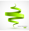 Green spiral 3D vector image vector image