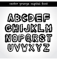 Grunge capital font vector image vector image