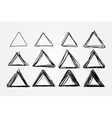 hand drawn doodle triangles design vector image