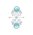 hand drawn typographic easter element on white vector image
